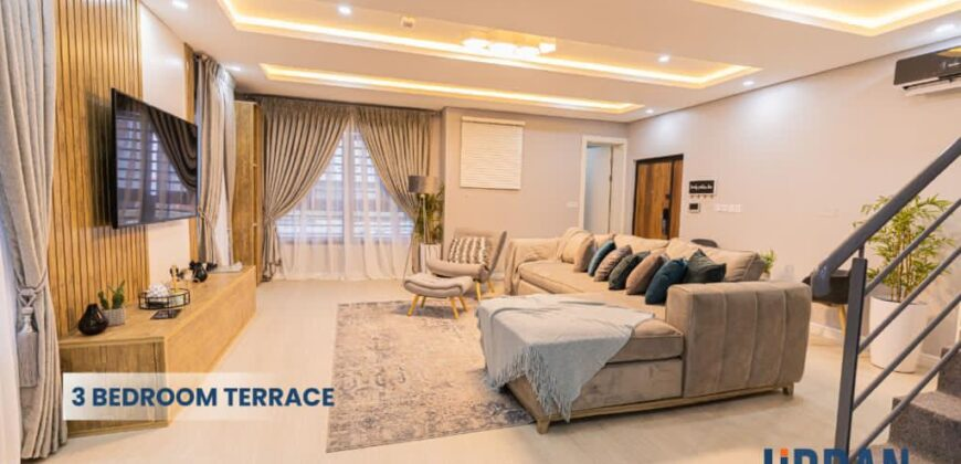 3 bedroom terrace -Lavadia series two with standard BQ