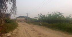 Half plot of land in abijo
