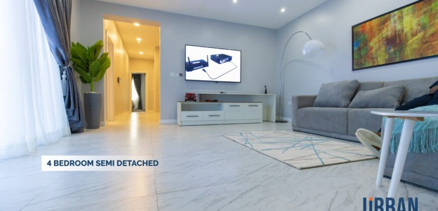 NEWLY BUILT AND EXOTICALLY FURNISHED 4 BEDROOM DUPLEX