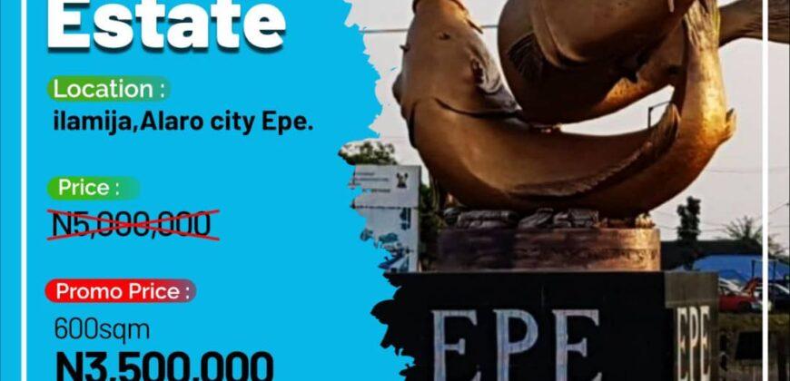 600sqm LANDS IN SKY CITY ESTATE ALARO EPE