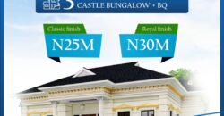 3 BEDROOM DETACHED CASTLE BUNGALOW WITH BQ AT AWOYAYA
