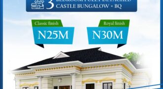 ROYALLY FINISHED 3 BEDROOM DETACHED CASTLE BUNGALOW