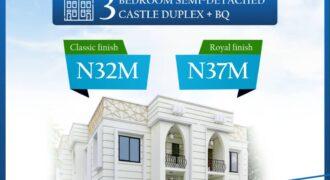 3 BEDROOM SEMI DETACHED CASTLE DUPLEX WITH BQ