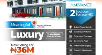 2 Bedroom Terrace with Bq at The Ambiance Estate Abraham Adesanya