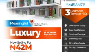 3 Bedroom Terrace with Bq at The Ambiance Estate Abraham Adesanya