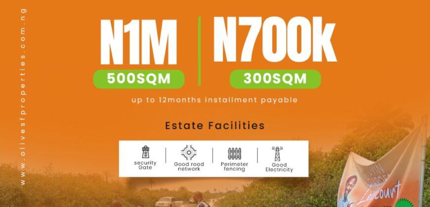 Full plot of Land Available at all Oyin's Garden Estate
