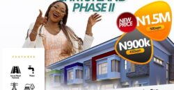300sqm LANDS IN CHRYSTLAND ESTATE PHASE II EPE