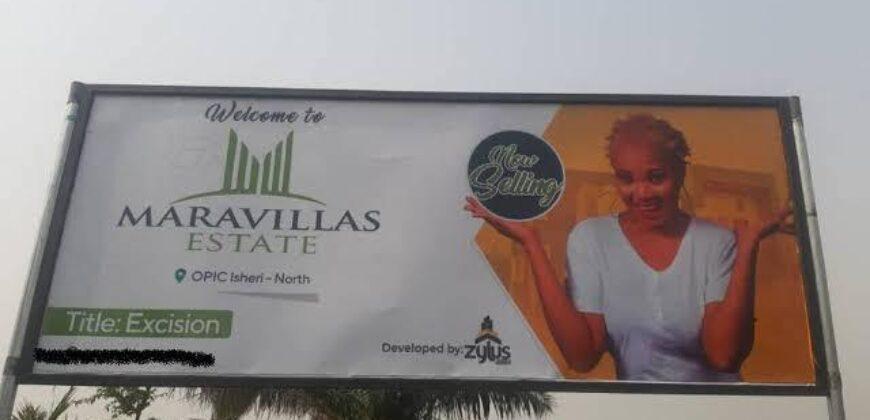 600sqm LANDS IN MARAVILLAS ESTATE AT ISHERI-NORTH OPIC LAGOS