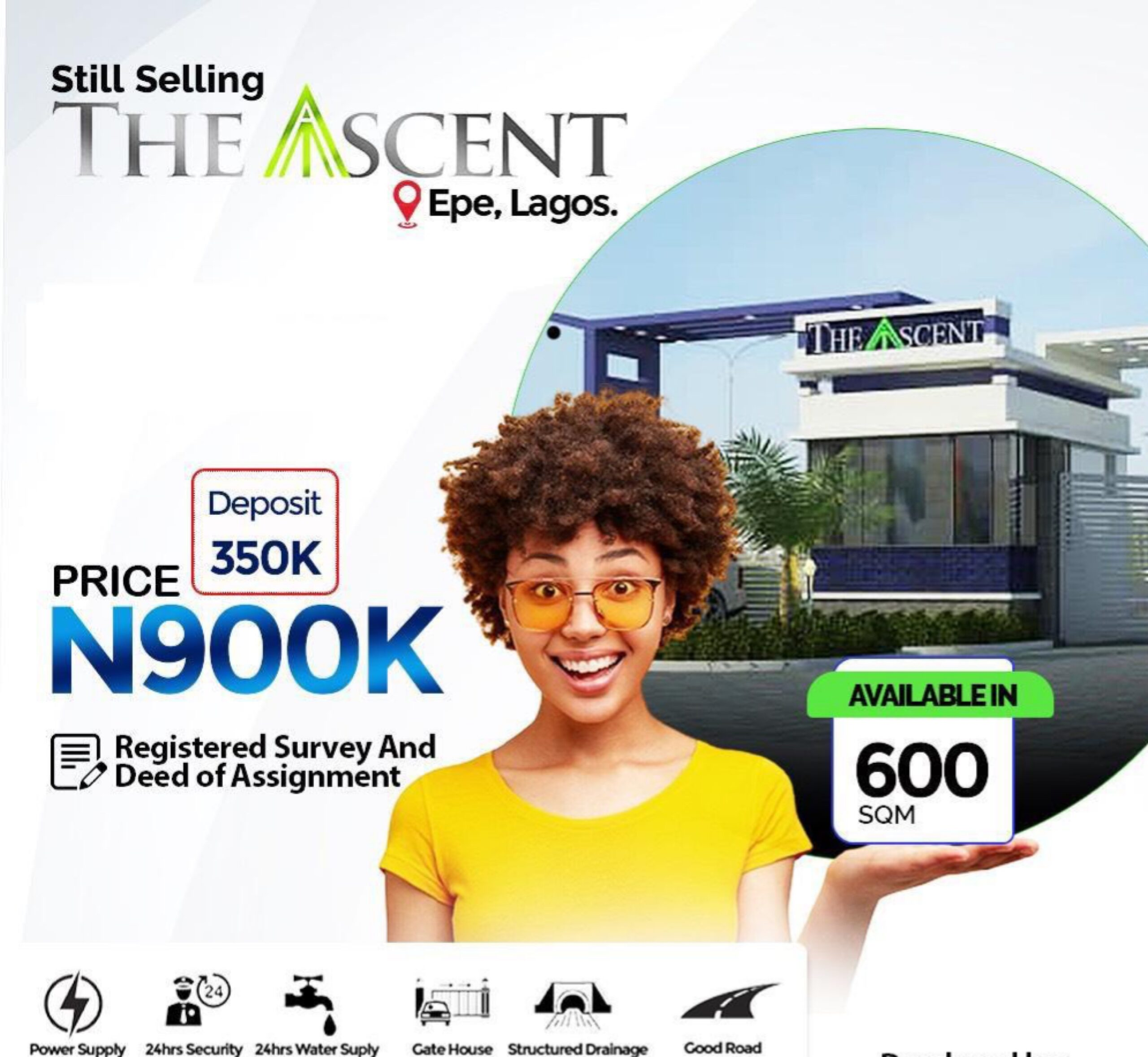 600sqm DRY LANDS IN THE ASCENT EPE