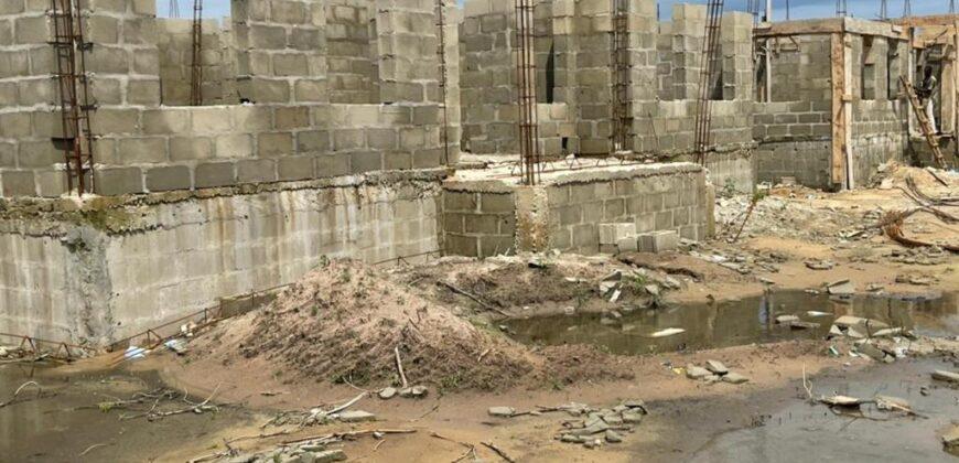 SUPER ROYALLY DESIGNED 3 BEDROOM DETACHED CASTLE BUNGALOW + BQ AT DE CASTLE, AWOYAYA LEKKI-AJAH