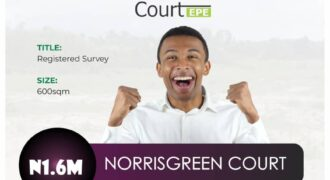 600sqm PLOTS OF LAND IN NORRISGREEN COURT EPE