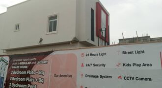 A DETAILED 2 BEDROOM FLAT WITH BQ AT PERIDOT HEIGHT SANGOTEDO