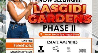 600sqm DRY LANDS IN LASGIDI GARDENS PHASE II EPE