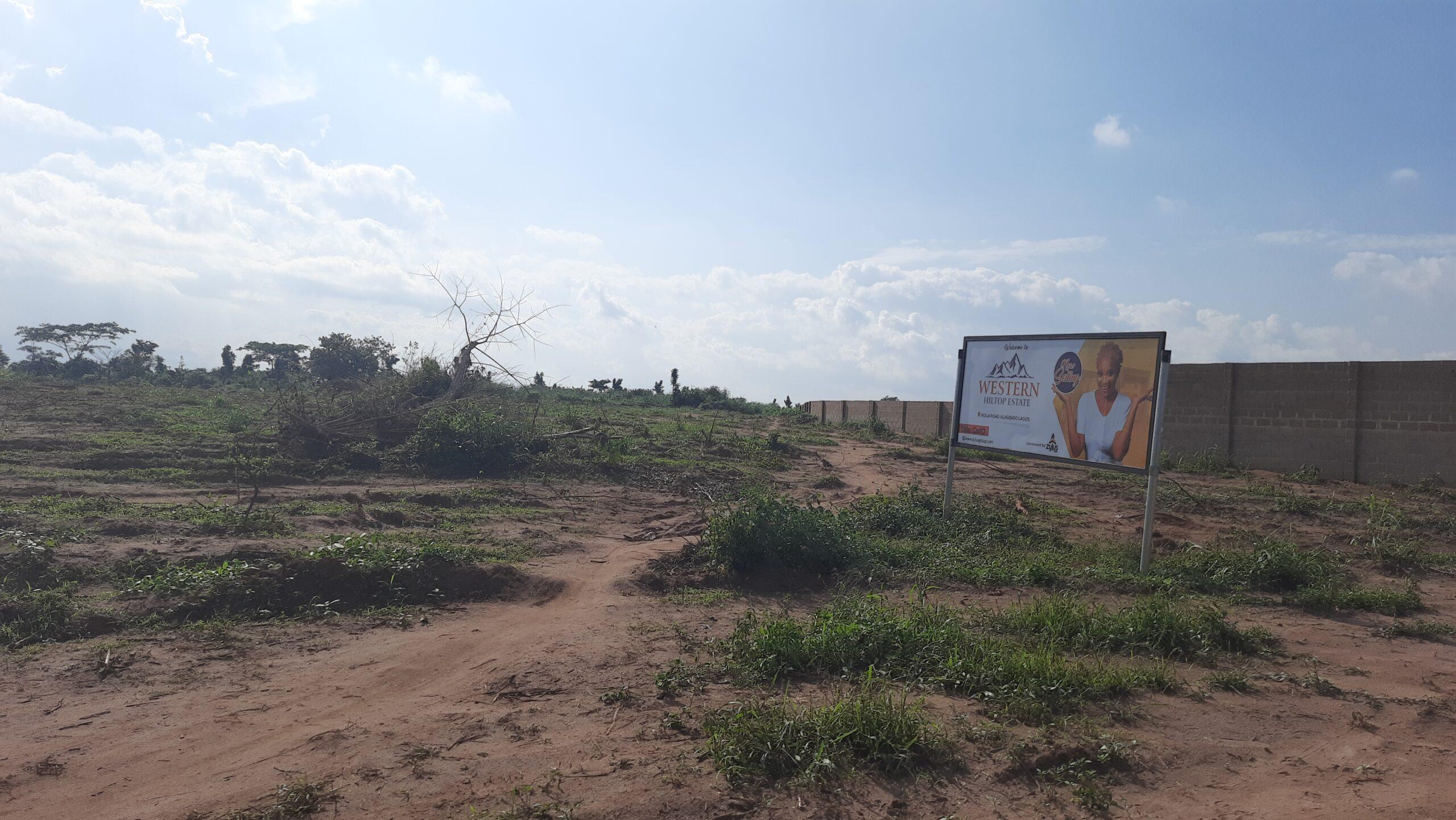 28% DISCOUNT WHEN BUY 500SQM  LAND AT WESTERN HILLTOP ESTATE, ALAGBADO ROAD, LAGOS